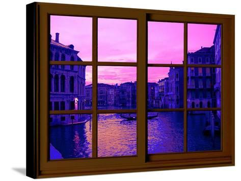 View from the Window the Grand Canal at Venice-Anna Siena-Stretched Canvas Print