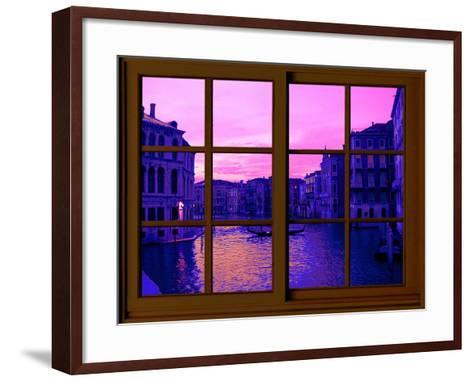 View from the Window the Grand Canal at Venice-Anna Siena-Framed Art Print