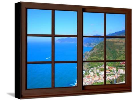 View from the Window at Cinque Terre-Anna Siena-Stretched Canvas Print