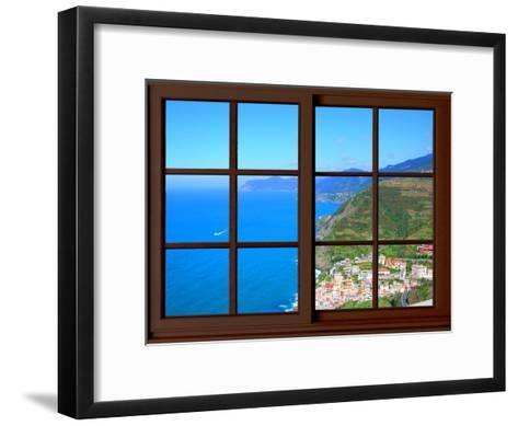 View from the Window at Cinque Terre-Anna Siena-Framed Art Print