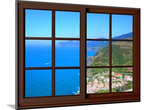 View from the Window at Cinque Terre-Anna Siena-Mounted Giclee Print