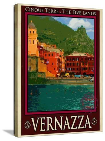 Vernazza Italian Riviera 1-Anna Siena-Stretched Canvas Print