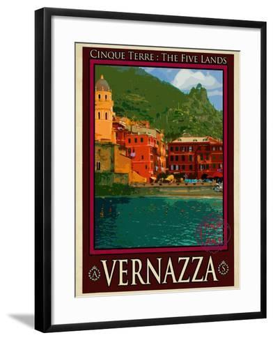 Vernazza Italian Riviera 1-Anna Siena-Framed Art Print