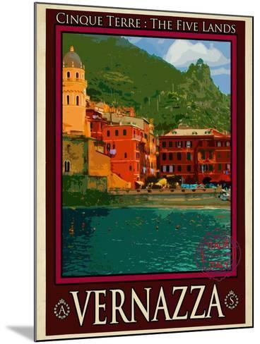 Vernazza Italian Riviera 1-Anna Siena-Mounted Giclee Print