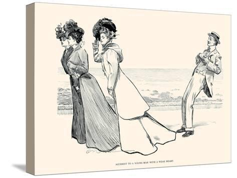 Accident to a Young Man with a Weak Heart-Charles Dana Gibson-Stretched Canvas Print