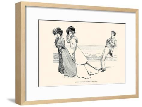 Accident to a Young Man with a Weak Heart-Charles Dana Gibson-Framed Art Print