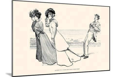 Accident to a Young Man with a Weak Heart-Charles Dana Gibson-Mounted Art Print
