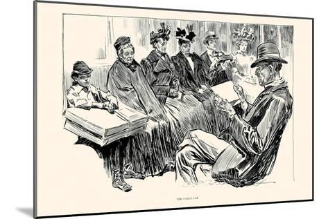 The Cable Car-Charles Dana Gibson-Mounted Art Print