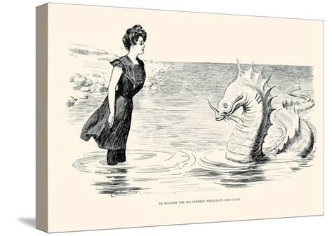 No Wonder the Sea Serpent Frequents Our Coast-Charles Dana Gibson-Stretched Canvas Print