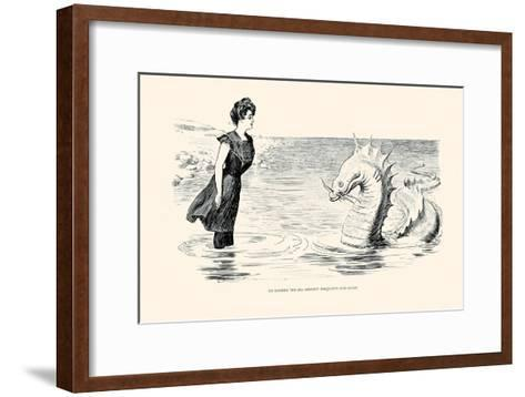 No Wonder the Sea Serpent Frequents Our Coast-Charles Dana Gibson-Framed Art Print