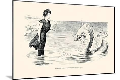 No Wonder the Sea Serpent Frequents Our Coast-Charles Dana Gibson-Mounted Art Print