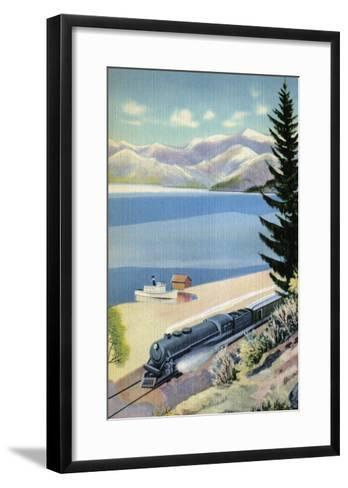 Steaming Along the Coast--Framed Art Print