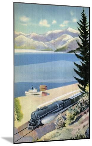 Steaming Along the Coast--Mounted Art Print