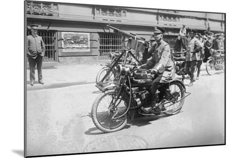 Police Mobile Motorcycle Machine Gun--Mounted Art Print
