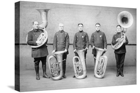 Police Tuba Quartet--Stretched Canvas Print