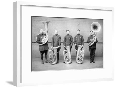 Police Tuba Quartet--Framed Art Print