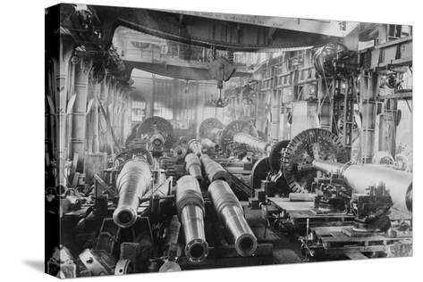 Manufacturing Floor for Large Naval Guns--Stretched Canvas Print