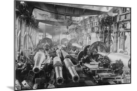Manufacturing Floor for Large Naval Guns--Mounted Art Print