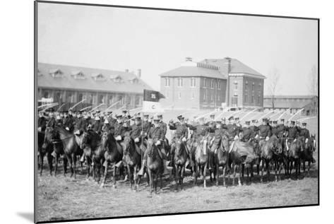 Mounted Cavalry Is Formation Drills at their Base--Mounted Art Print