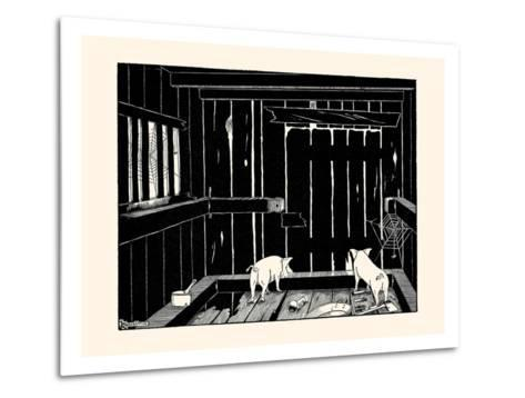 They Could Neither Burrow Out Nor Run Up the Wall-Luxor Price-Metal Print