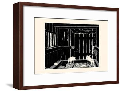 They Could Neither Burrow Out Nor Run Up the Wall-Luxor Price-Framed Art Print