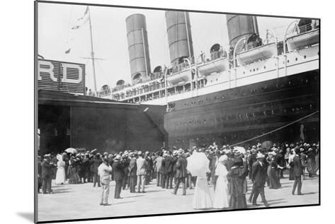 Lusitania at New York Dock--Mounted Art Print