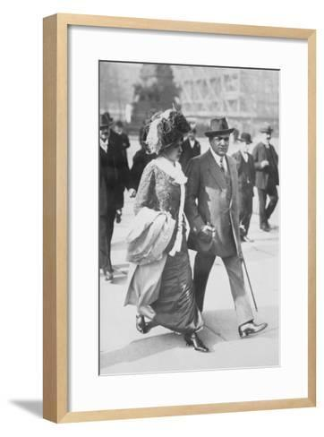 Mr. and Mrs. Enrico Caruso--Framed Art Print