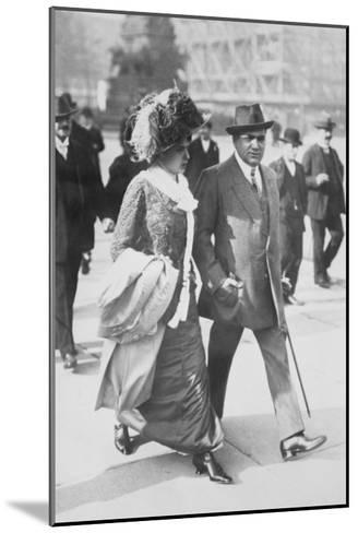 Mr. and Mrs. Enrico Caruso--Mounted Art Print