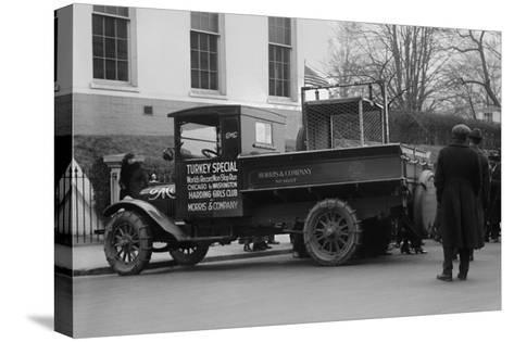 Truck Marked as the Turkey Special Delivers a Turkey to the White House for Thanksgiving--Stretched Canvas Print