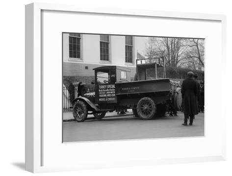 Truck Marked as the Turkey Special Delivers a Turkey to the White House for Thanksgiving--Framed Art Print