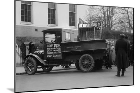 Truck Marked as the Turkey Special Delivers a Turkey to the White House for Thanksgiving--Mounted Art Print