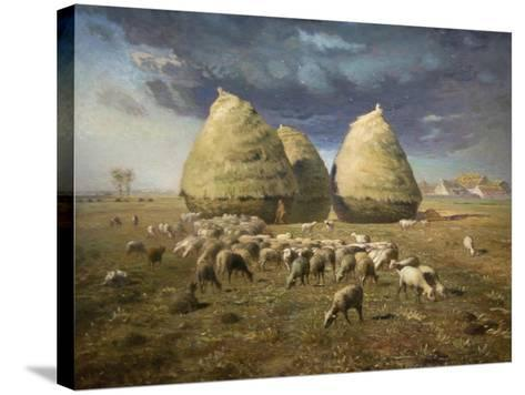 Haystacks; Autumn 1874-Jean-Fran?ois Millet-Stretched Canvas Print