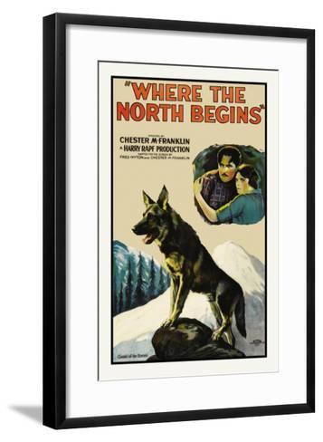 Where the North Begins--Framed Art Print