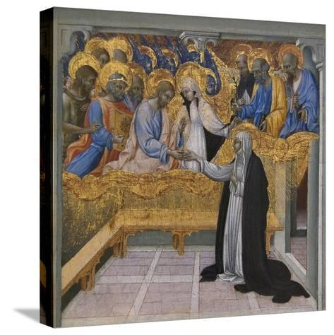 Mystic Marriage of Saint Catherine of Siena-Giovanni di Paolo-Stretched Canvas Print