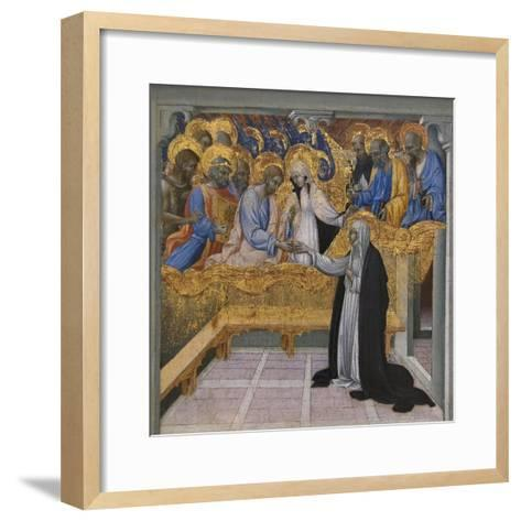 Mystic Marriage of Saint Catherine of Siena-Giovanni di Paolo-Framed Art Print