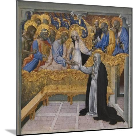 Mystic Marriage of Saint Catherine of Siena-Giovanni di Paolo-Mounted Art Print