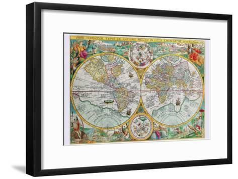 World Map-Petrus Plancius-Framed Art Print