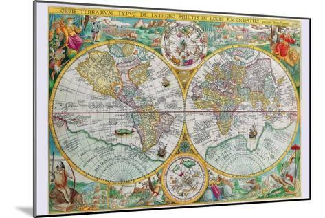 World Map-Petrus Plancius-Mounted Art Print