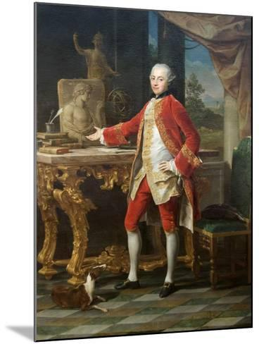 Portrait of a Young Man-Pompeo Batoni-Mounted Art Print
