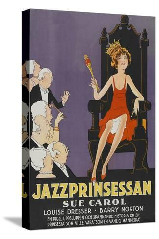 "Exalted Flapper ""Jazzprinsessan""--Stretched Canvas Print"