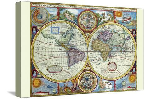 New and Accurate Map of the World; a Stereographic Projection-John Speed-Stretched Canvas Print