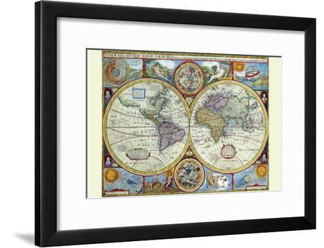 New and Accurate Map of the World; a Stereographic Projection-John Speed-Framed Art Print