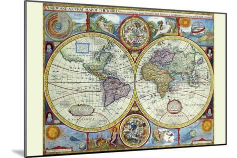 New and Accurate Map of the World; a Stereographic Projection-John Speed-Mounted Art Print