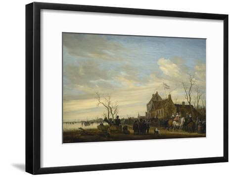 Drawing of the Eel-Salomon van Ruysdael-Framed Art Print