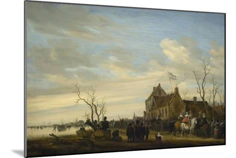 Drawing of the Eel-Salomon van Ruysdael-Mounted Art Print