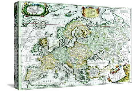 Europe-Vincenzo Coronelli-Stretched Canvas Print