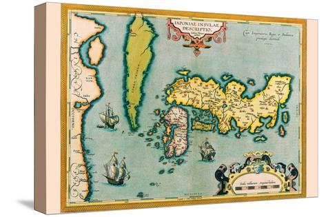 Description of the Japanese Islands-Abraham Ortelius-Stretched Canvas Print