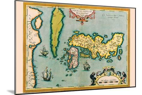 Description of the Japanese Islands-Abraham Ortelius-Mounted Art Print