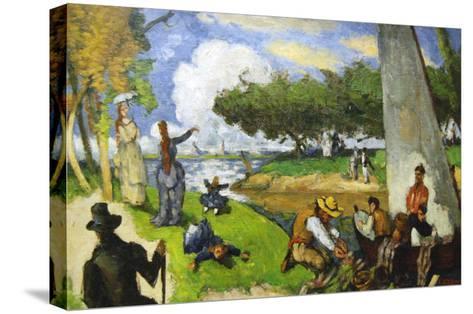 Fishermen - a Fantastic Scene-Paul C?zanne-Stretched Canvas Print