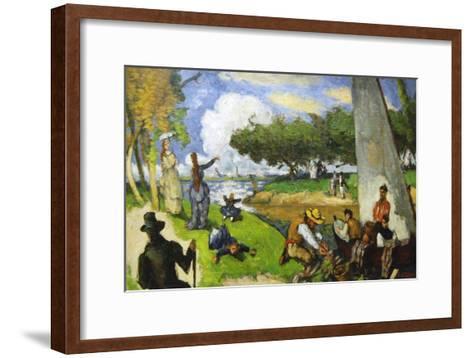 Fishermen - a Fantastic Scene-Paul C?zanne-Framed Art Print